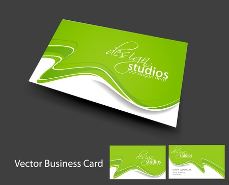 visiting card design: vector business card set , elements for design.