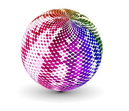 abstract 3d vector sphere with circle design.  Vector