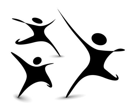 equipe sport: ensemble d'ic�nes - personnes connect�es symboles. Illustration