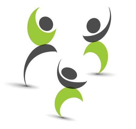 conjunto de iconos - personas conectadas símbolos.