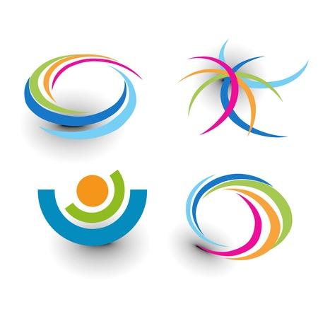 set di icone colorate astratto elemento.