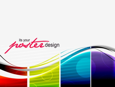 abstract vector wave poster design. Stock Vector - 10497656