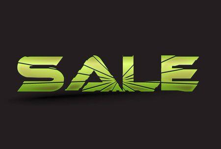sale breaking text Stock Vector - 10497578