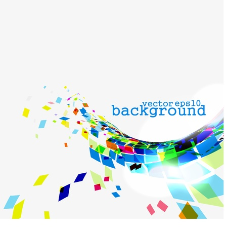 Abstract explore square colorful mosaic vector background  Stock Vector - 10497587