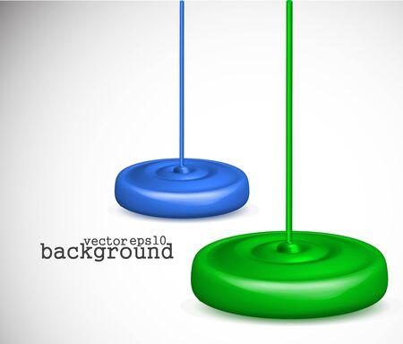 dripping paint: 3d vector paint dripping design.