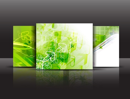 publications: Presentation of poster design content background. editable vector illustration  Illustration