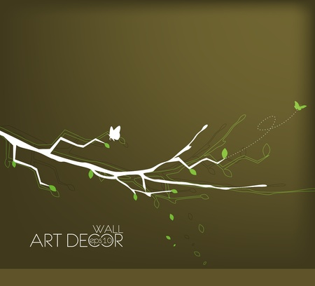 abstract wall lovely texture background with floral design Vector