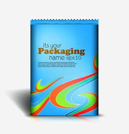 pouch: Presentation of pouch pack design content background. editable vector illustration  Illustration