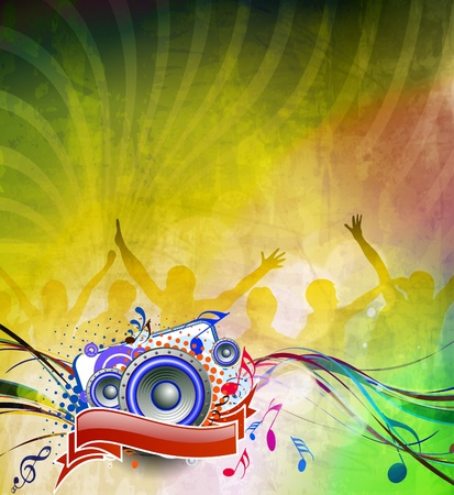 abstract urban music party background design. Stock Vector - 10497701