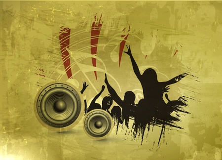 abstract urban music dnace party background design. Vector