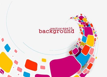 graphics: Abstracte kleurrijke banner achtergrond voor uw bedrijf kunstwerk