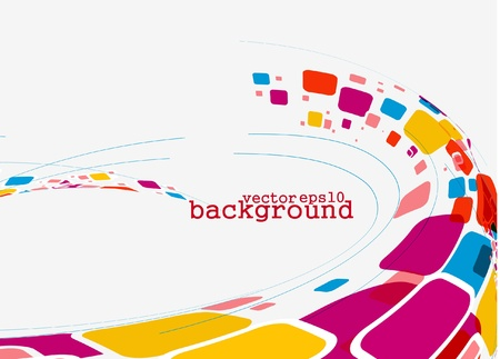 abstract  mosaic web background, vector illustration. Stock Vector - 10497556