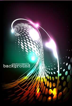torrent: futuristic abstract glowing background - vector illustration