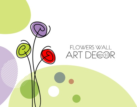 groovy: abstract spring flower background illustration.