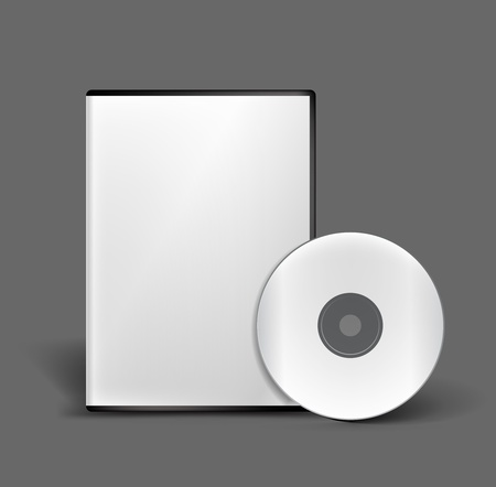 cd: Blank DVD case and disc vector design