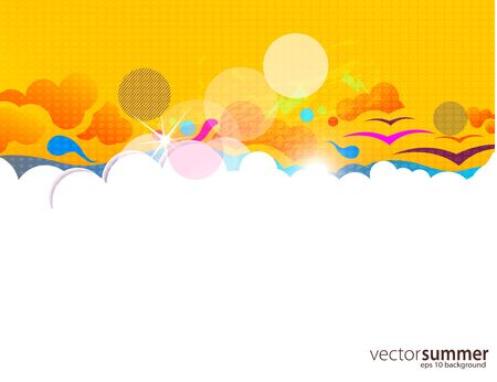 abstract vector cloud background with space for your text