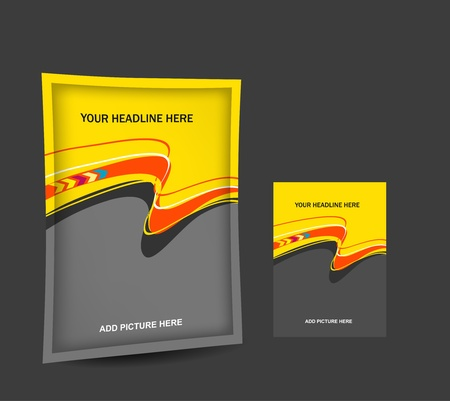 packaging industry: abstract design for packaging , vector for bag template design  Illustration