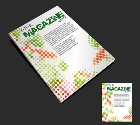 edit: magazine cover layout design vector
