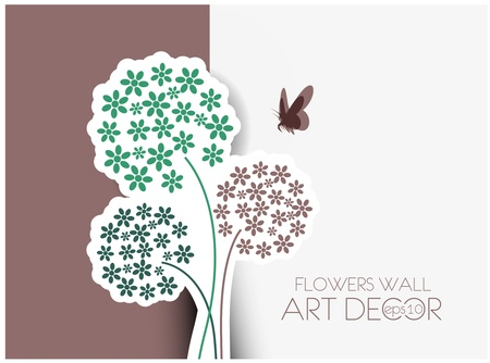 vector floral greeting card design. Vector