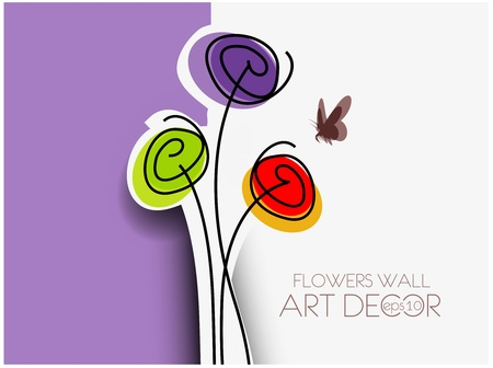 Spring abstract floral background with place for your text.