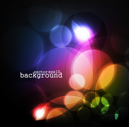colorful lights: Abstract vector colorful lights background