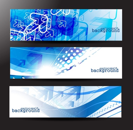 Set of abstract colorful web arrow headers.  Vector