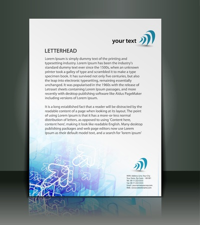 headed: vector corporate identity template design.