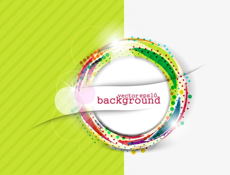 finance background: Abstract colorful circle banner for your text. Vector design.