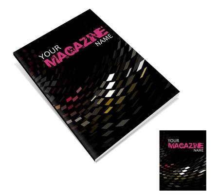 leggere rivista: vettore di progettazione layout copertina di una rivista Vettoriali