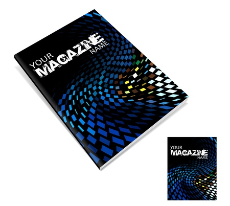 book publisher: magazine cover layout design vector
