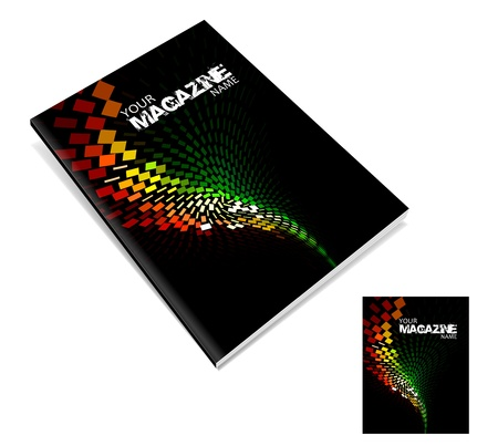 fedő: magazin borító layout tervezés vektor Illusztráció