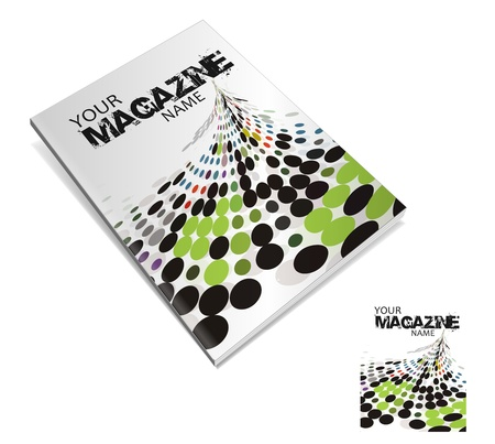 advertising column: magazine cover layout design vector