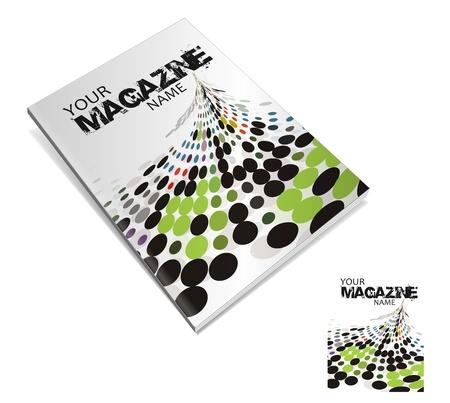 tijdschriftdekking lay-out ontwerp vector Vector Illustratie