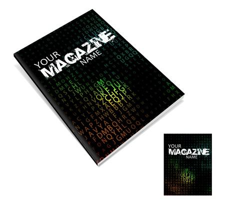 vettore di progettazione di layout copertina di una rivista