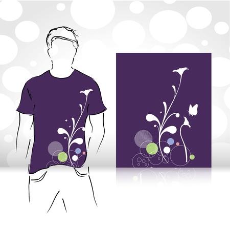 casual dress: t-shirt design template. editable vector illustration  Illustration