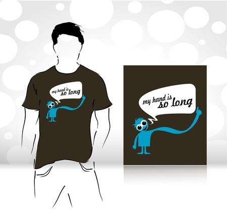 casual wear: t-shirt design template. editable vector illustration  Illustration