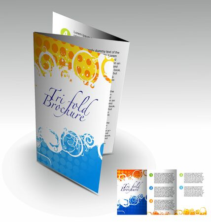 Tri-fold brochure design element, best used for your project.  Stock Vector - 10510346