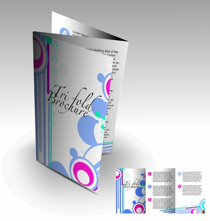 Tri-fold brochure design element, best used for your project.  Vector