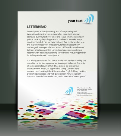 identity template: Corporate identity template design. Illustration