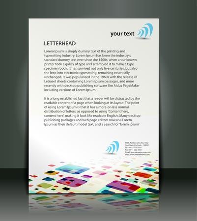 new company: Corporate identity template design. Illustration
