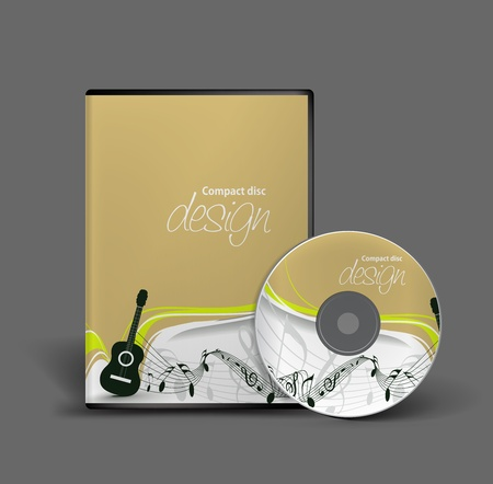 Cd cover design template with copy space. Vector