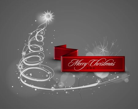 Modern abstract christmas tree background. Vector