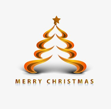 Modern abstract christmas tree background.