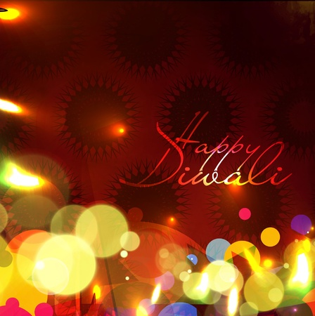 abstract beautiful diwali background design. Stock Vector - 11193928