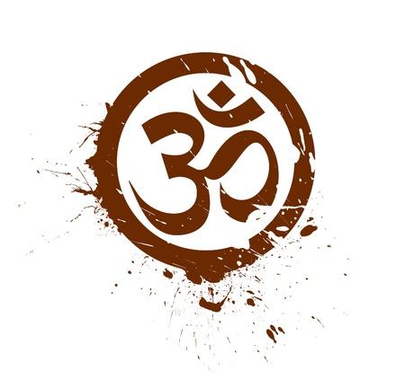 oliedrum: grunge Lord Ganesha, diwali symbolen ontwerp