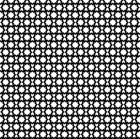 Retro black and white seamless circle pattern background Vector