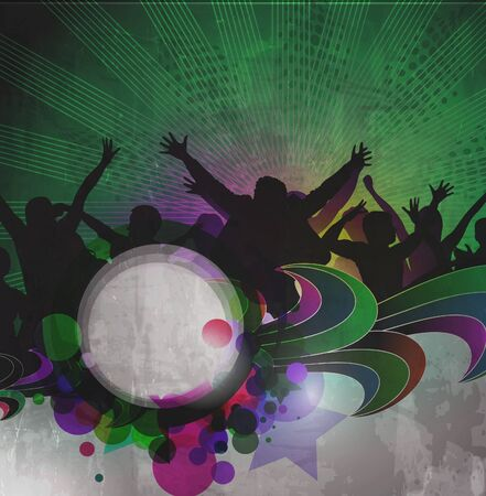 abstract urban music danace party banner background design.  Vector