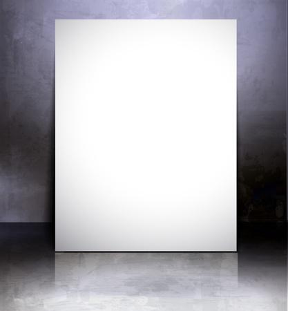 showcase interior: Banner bianco di poster  disegno di sfondo volantino contenuto.