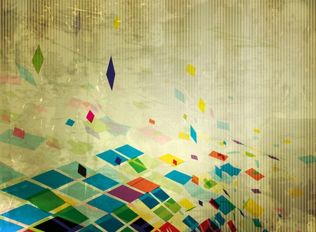 abstract multicolor grunge mosaic background, vector illustration.  Vector