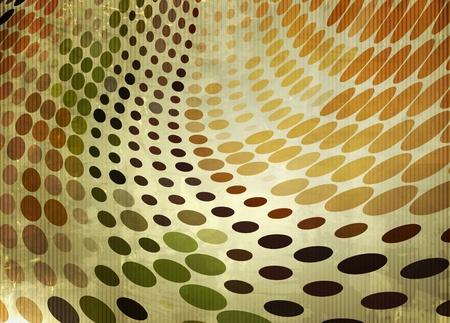 antique wallpaper: abstract vector halftone grunge background design